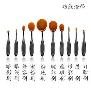 Fashion Newest 10PCS Toothbrush Makeup Brush Set pictures & photos