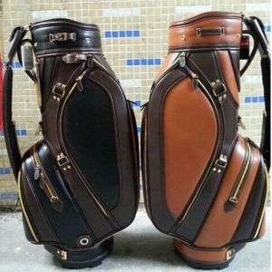 Ultra Leather Cart Staff Golf Bag with Raincover pictures & photos