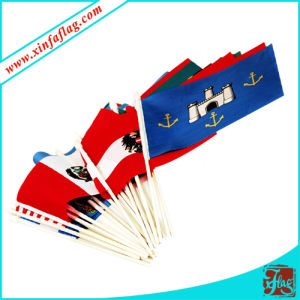 Digital Printing Stick Flags with Plastic White Pole pictures & photos