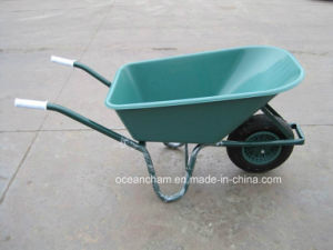 Popular Plastic Tray Garden Wheelbarrow with Pneumatic Wheel