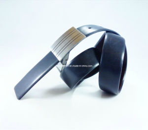 Formal Men′s Leather Belt with Auto Buckle (EU3322-35)