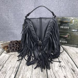 New Style Ancient Tassel Sling Genuine Leather Bags pictures & photos