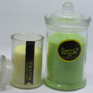 Wholessle Clear Custom Scented Glass Jars Candles in Glass Jar pictures & photos