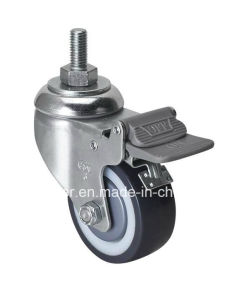 "Edl Medium 3"" 130kg Threaded Brake TPU Caster Z5743-87n"