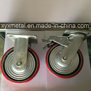 Heavy Duty Caster with Metal Cover Bouble Beading Iron Core PU Caster, Industry Caster pictures & photos