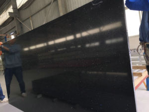 Black Galaxy Man Made Stone, 20mm Artificial White Quartz, Engineered Stone Slate pictures & photos