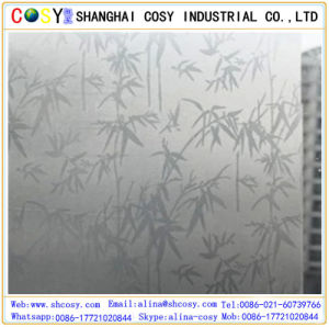 1.22*50m PVC Glass Decorative Static Cling Window Film /Self Adhesive Window Film with Sticker pictures & photos