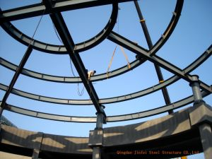 Round Roof Steel Structure for Supermarket pictures & photos