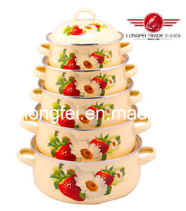 675D High Quality Enamel Cookware Set pictures & photos