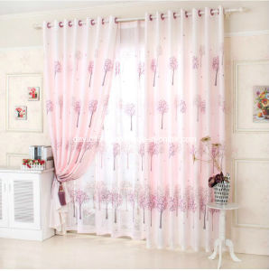 Printed Voile Grommet Curtain/ Panel (SZSMEV001)