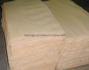 High Quality 0.3mm Red Hardwood Veneer pictures & photos