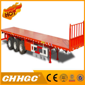 Chhgc 3 Axle Light Duty Flatbed Container Semi Trailer pictures & photos