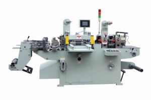 PVC Adhesive Label Die Cutter Rewinder Machine Tools for Label Cutting pictures & photos