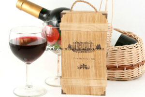 Eco-Friendly Logo Printed Customized Wooden Wine Packaging in Different Finish pictures & photos