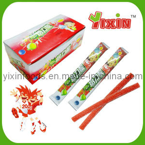 Super Sour Soft Jelly Candy With Powder Filling