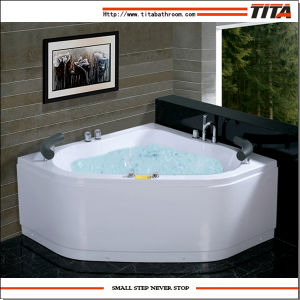 Corner Bathtub with Seat Tmb043 pictures & photos