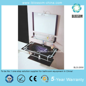 New Design Bathroom Vanity Lacquer Glass Basin with Mirror (BLS-2050) pictures & photos