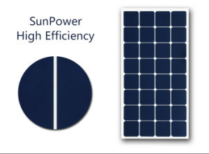 2017 High Efficiency Sunpower 100W Semi Flexible Solar Panel pictures & photos