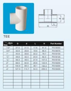 ASTM Sch40 UPVC/PVC Fittings Standard ASTM-D-2466 pictures & photos
