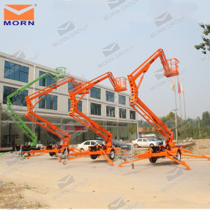 14m Super Quality Hot Sale Towable Boom Lift Electric Boom Lifts pictures & photos