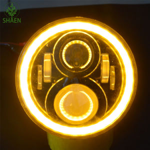 "Top Quality Round 12V 24V 7"" LED Headlight for Motorcycle pictures & photos"