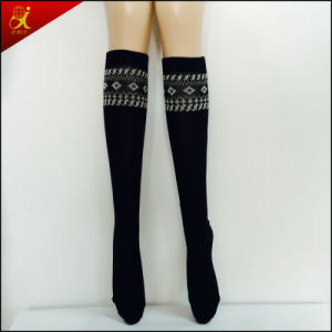 Black Thigh High Compression Stockings pictures & photos
