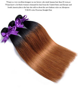 Peruvian Human Hair Bundles 10-26 Inches 1b 30 Human Hair Factory Wholesale 14inch pictures & photos