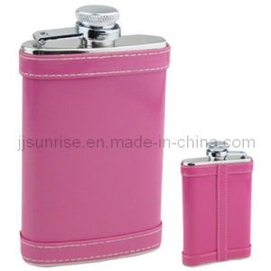 Pocket 3.5oz Hip Flask (JJ-FK67-3.5ozLWr02(HotPink))