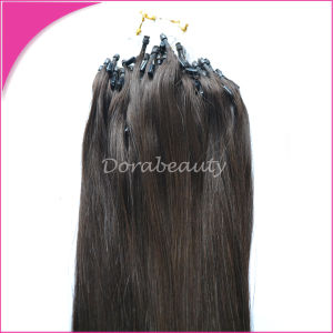 Brazilian Remy Human Hair Weft Micro Ring Hair Extensions pictures & photos
