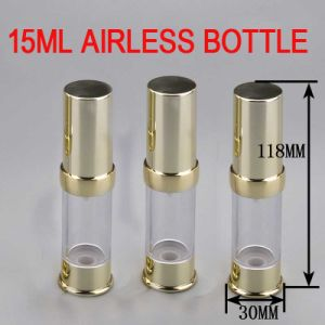 15ml Gold Airless Packaging Bottle, Cosmetic Plastic Bottle pictures & photos