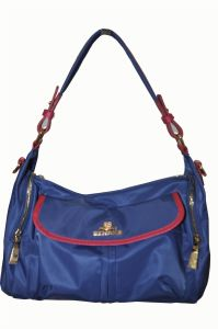 Factory Fashion Designer Nylon with Leather Hand Bag/China Wholesale (BS12950)