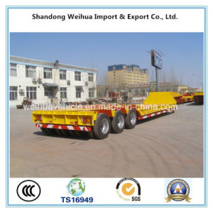 80t Multi-Axle Low Bed Truck Trailer, Heavy Duty Equipment Trailer pictures & photos