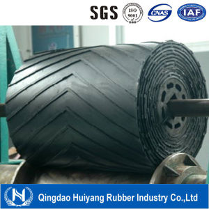 Chevron Pattern V Rubber Industrial Belts for Conveyors pictures & photos
