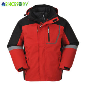 Polyester Outside Fleece Inside 3 in 1 Mountain Coat pictures & photos