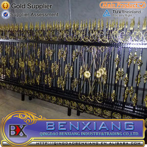Wrought Iron Security Fence Steel Fence Power Coating Steel Tube Fence pictures & photos