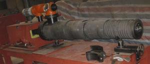 PVC Foaming Extruder Conical Twin Screw Barrel with Bimetallic Alloy