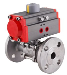 Pneumatic Flange Ball Valve - 3PCS Ball Valve pictures & photos