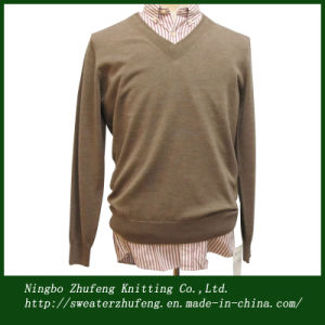 Men′s Special V Neck Pullover Sweater Nbzf0052