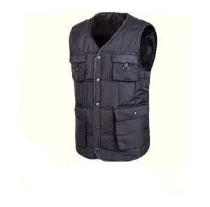 Grey Fashion Winter Bodywarmer Cotton Nylon Vest pictures & photos