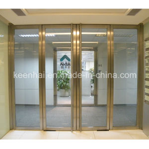 Customed Size Commercial Stainless Steel Frame Glass Security Door pictures & photos