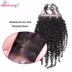 4X4 Kinky Curly Silk Base Closure Brazilian Virgin Human Hair pictures & photos