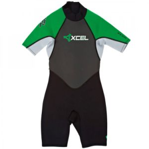 2mm Spring Shorti Wetsuit in Green Grey Black pictures & photos