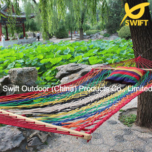 Color Cotton Rope Hammock with Spread Rod pictures & photos
