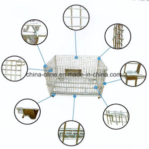 Stackable Folded Wire Storage Container pictures & photos