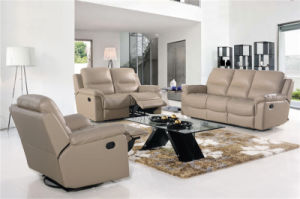Grey Color Half Leather Sofa Furniture pictures & photos