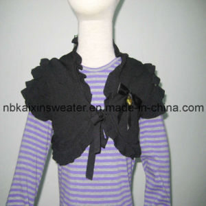 Girl′s Viscose Fashion Black Shawl (KX-CG71)