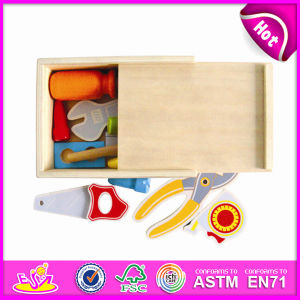 2014 New Colorful Wooden Kids Toy Tools, Popualr Children Wooden Toy Tools Set, Hot Sale Education DIY Baby Toy Tools Box W13e026 pictures & photos