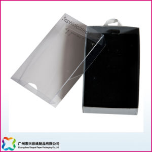 Jewelry Packaging Box with Hot Stamping Logo on PVC Lid pictures & photos
