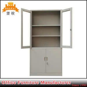 Glass Door Filing Cabinet Metal Book Cabinet with 4 Door pictures & photos