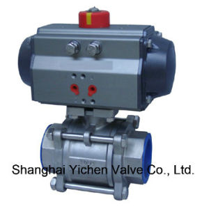 Double Acting Stainless Steel Pneumatic Actuator Thread Ball Valve (Q611F) pictures & photos